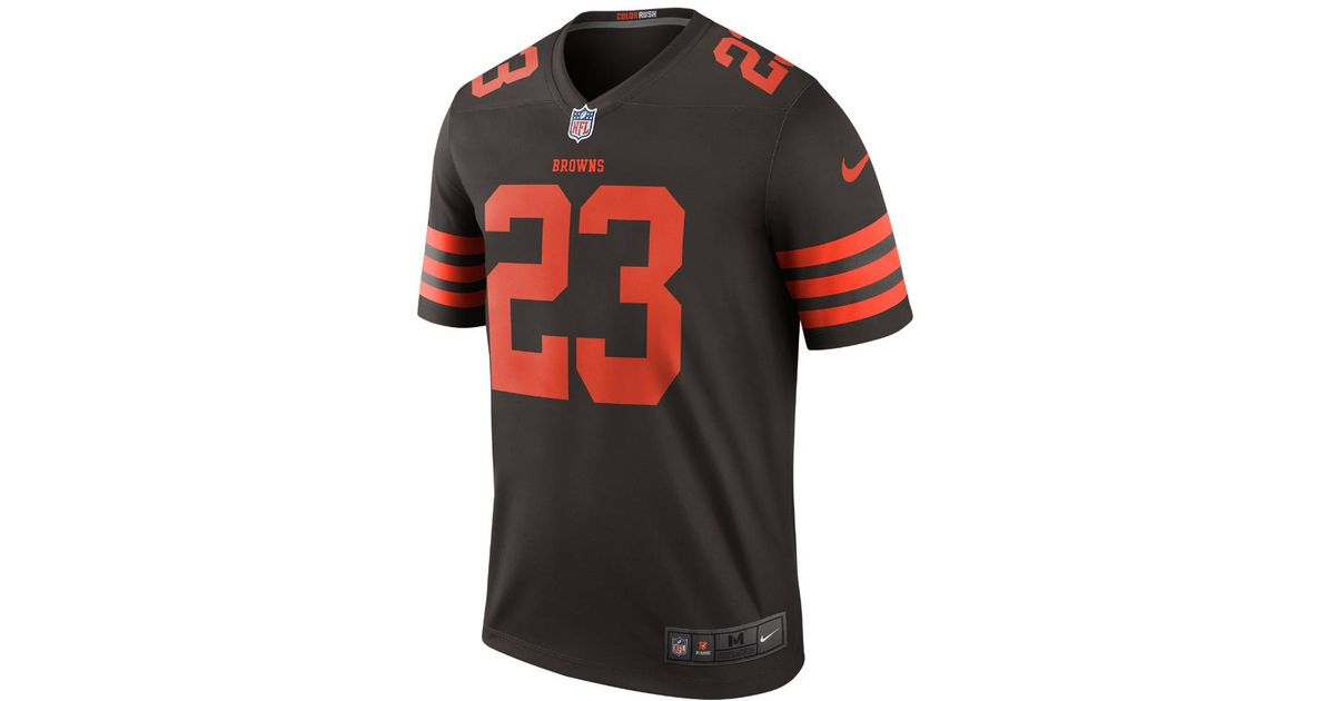 4e97122bf0c Nike Nfl Cleveland Browns Color Rush Legend (joe Haden) Men's Football  Jersey for Men - Lyst
