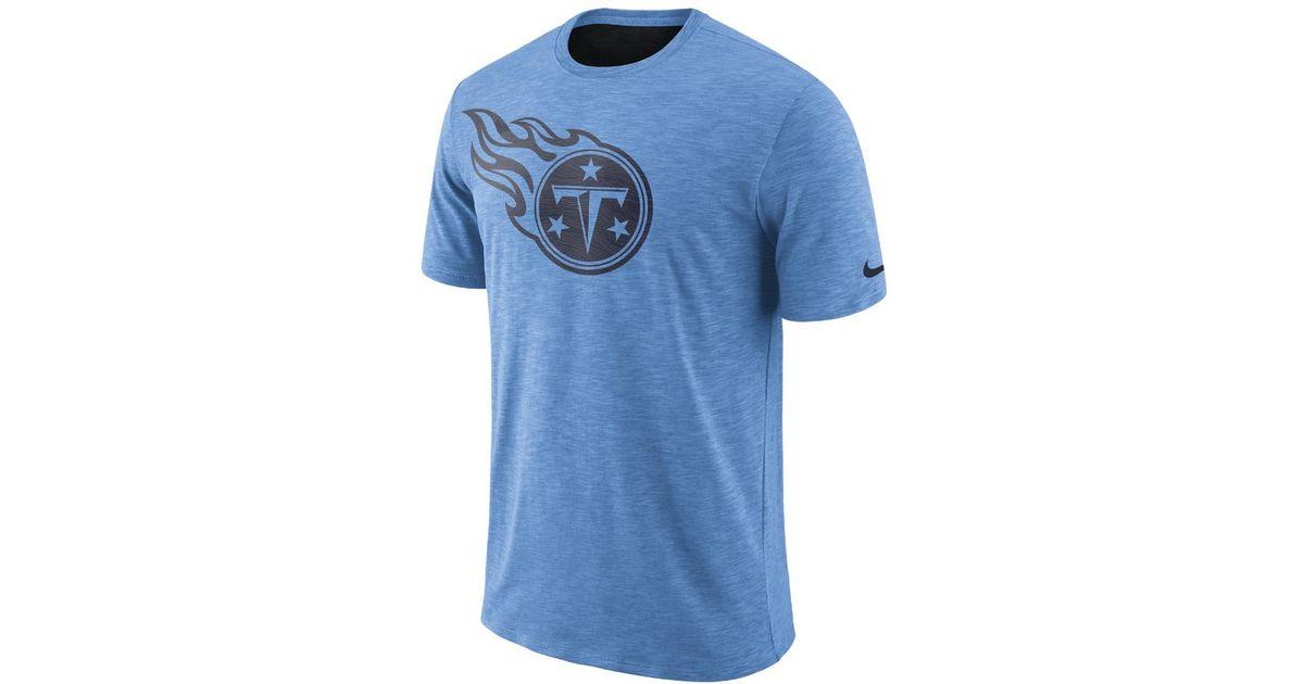 Lyst - Nike Dri-fit Legend On-field (nfl Titans) Men s T-shirt in Blue for  Men 842193ed8
