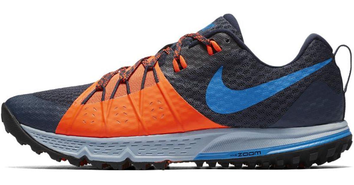 84271fcb9db Lyst - Nike Air Zoom Wildhorse 4 Men s Running Shoe in Blue for Men