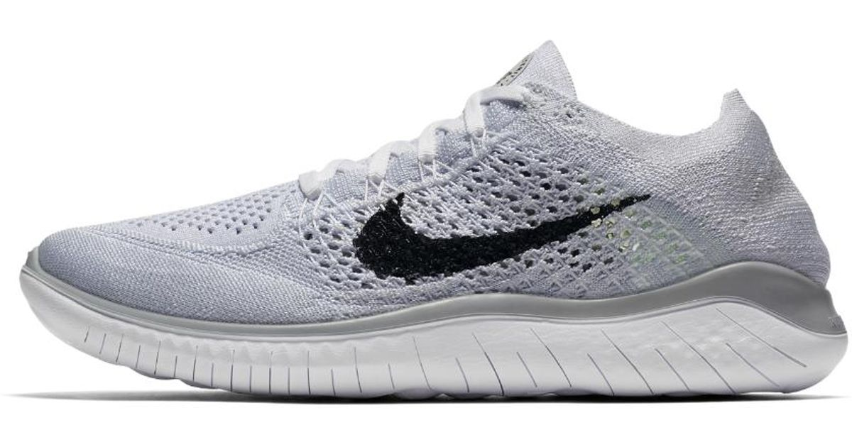 the best attitude ae17f 82a47 Nike Free Rn Flyknit 2018 Women's Running Shoe in White - Lyst