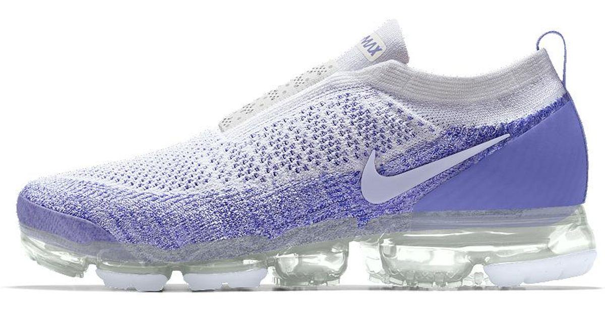 235a383c8a21 Lyst - Nike Air Vapormax Flyknit Moc 2 Id Women s Running Shoe in Blue