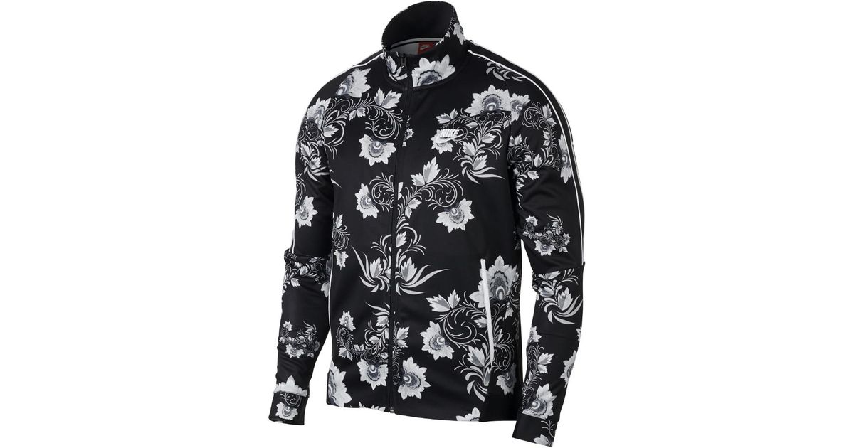 47f35f5dc473 Lyst - Nike Sportswear N98 Floral Men s Printed Jacket in Black for Men