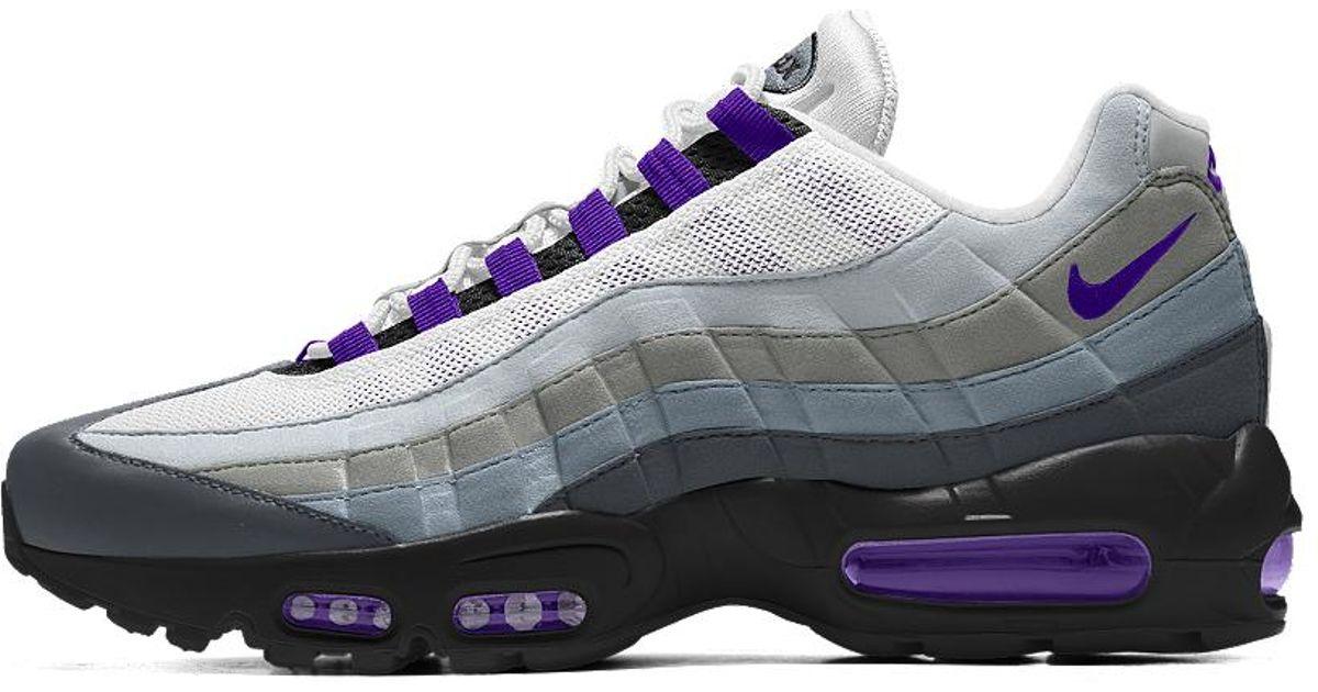 Lyst - Nike Air Max 95 Id Women s Shoe in Blue 0a4974d98