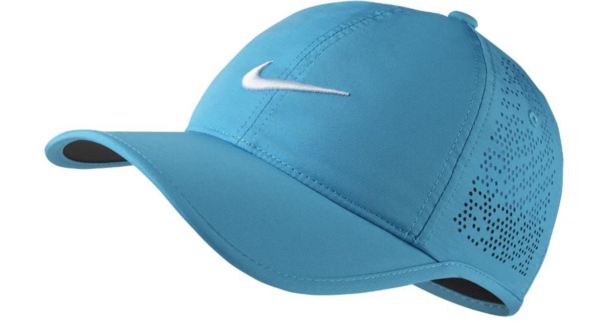 Lyst - Nike Perforated Women s Adjustable Golf Hat (blue) in Blue edf8ca8e1b8