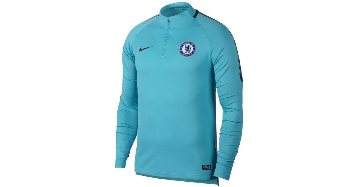 f6b24243e Nike Chelsea Fc Dry Squad Drill Men s Soccer Top in Blue for Men - Lyst
