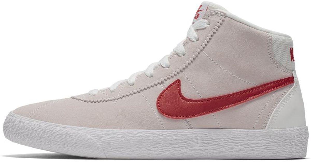 ae7da49e7811 Lyst - Nike Sb Bruin High Women s Skateboarding Shoe in White