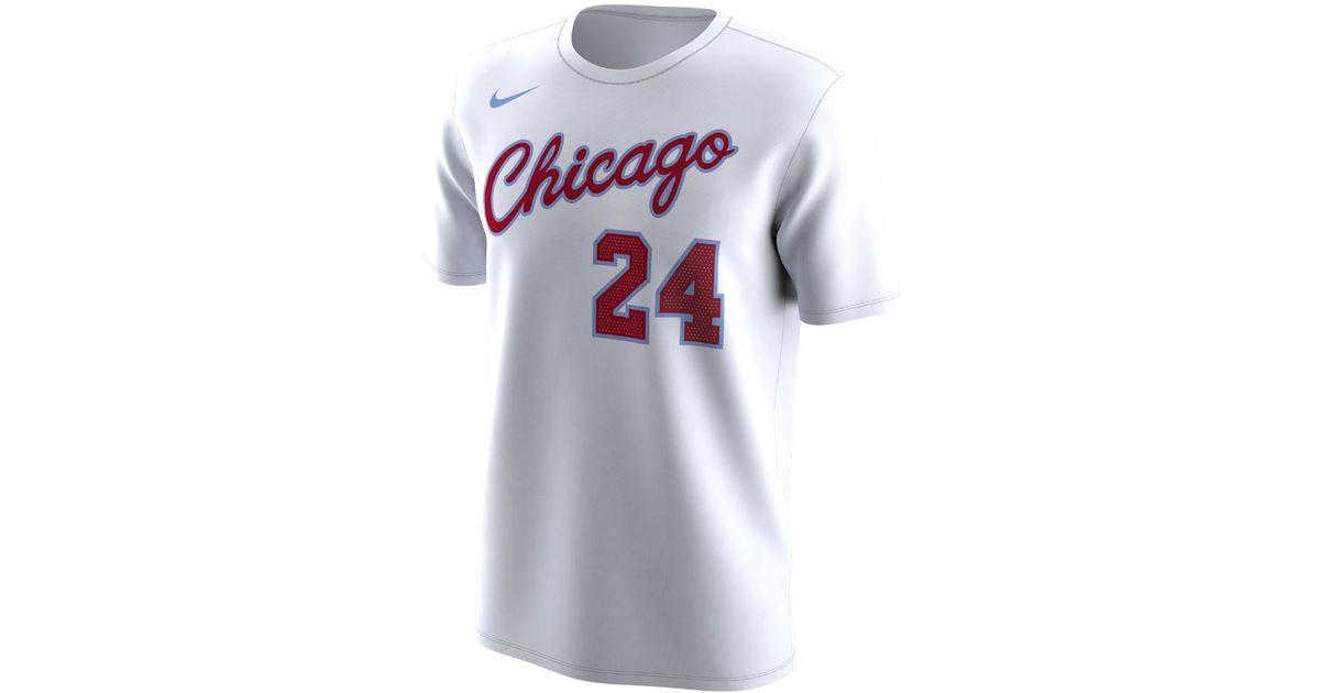 41af592d502c46 Nike Chicago Bulls City Edition (lauri Markkanen) Dri-fit Men s Nba T-shirt  in White for Men - Lyst