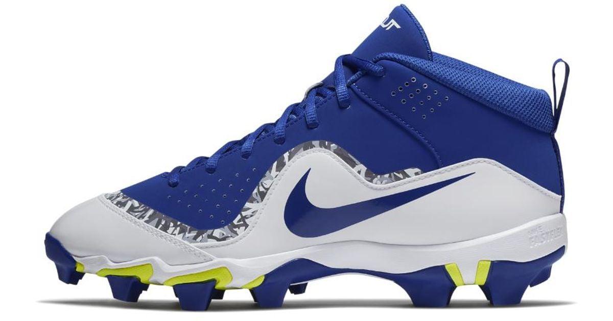 ed8f6cd04143 Nike Force Trout 4 Keystone Men's Baseball Cleats in Blue for Men - Lyst