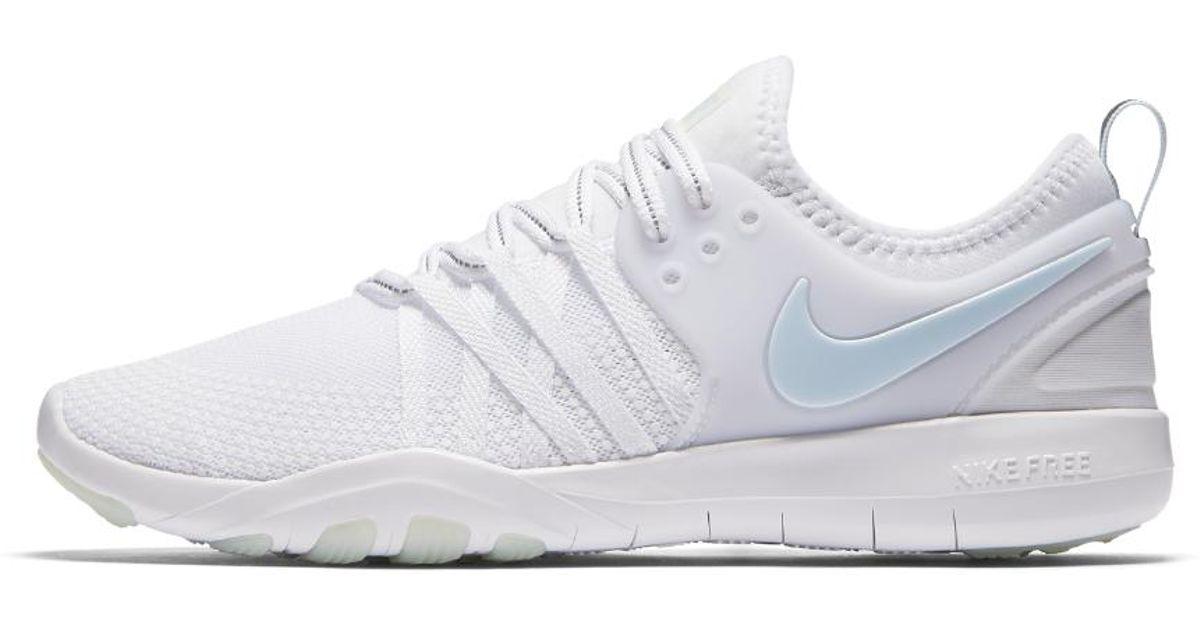 7e272716cbcc Lyst - Nike Free Tr 7 Reflect Women s Training Shoe in White