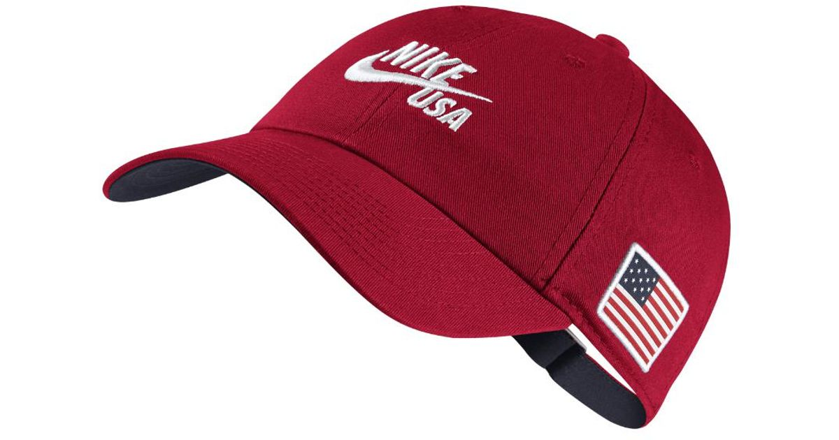 watch 5e499 b4dcd Nike Heritage 86 Americana Adjustable Hat (red) in Red for Men - Lyst