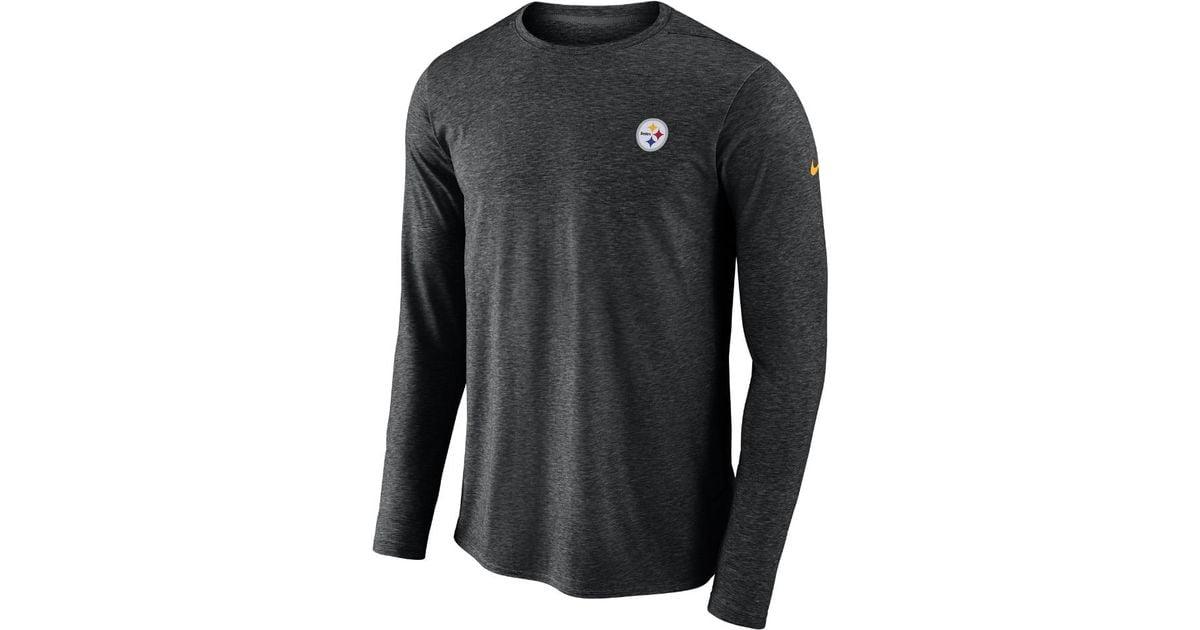 0893645031a8a4 Lyst - Nike Dri-fit Coach (nfl Steelers) Men s Long Sleeve Football Top in  Black for Men