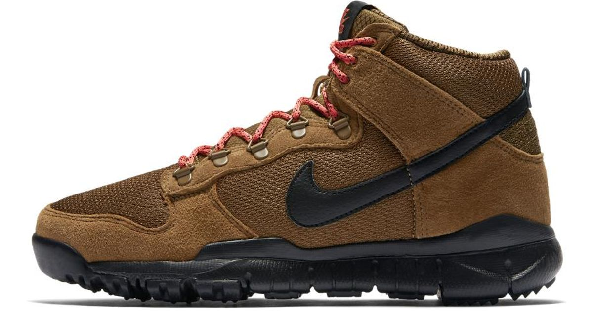 298f2ce3dc74 Lyst - Nike Sb Dunk High Men s Boot in Brown for Men