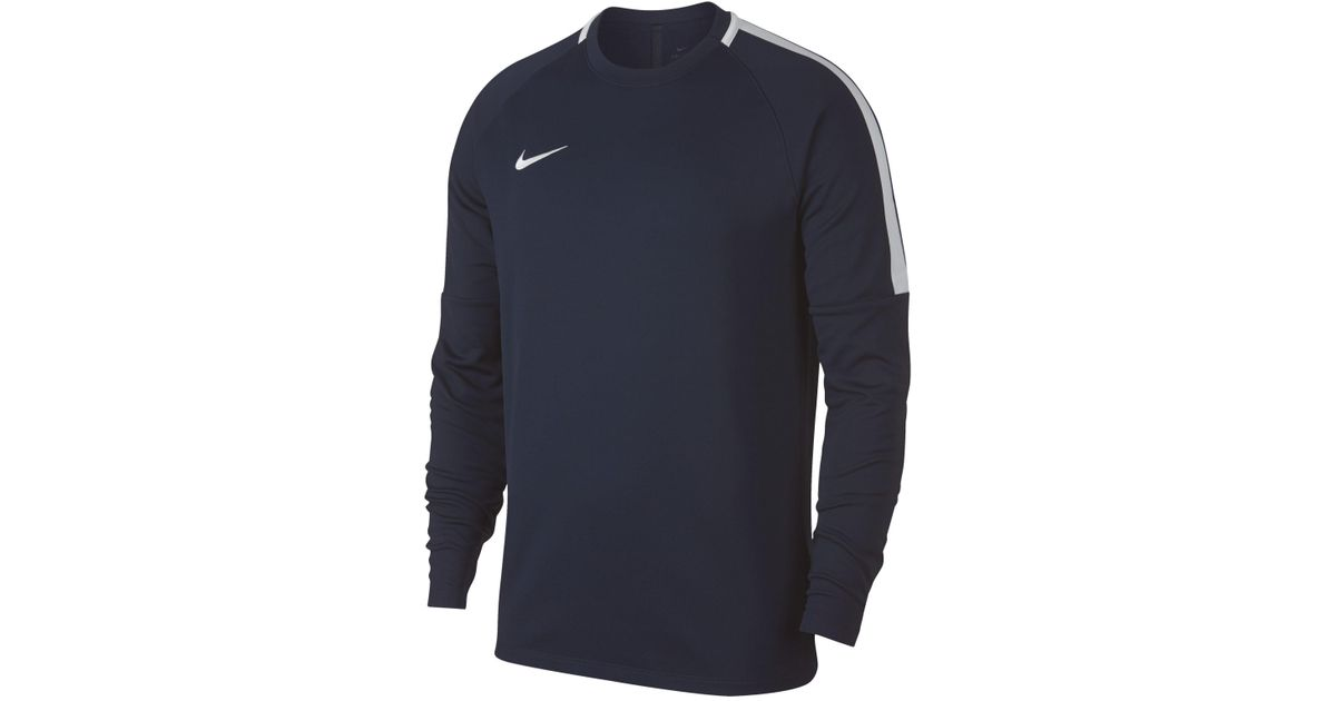 Football Fit Sweatshirt In Men For Blue Nike Dri Academy Lyst wq4TTx