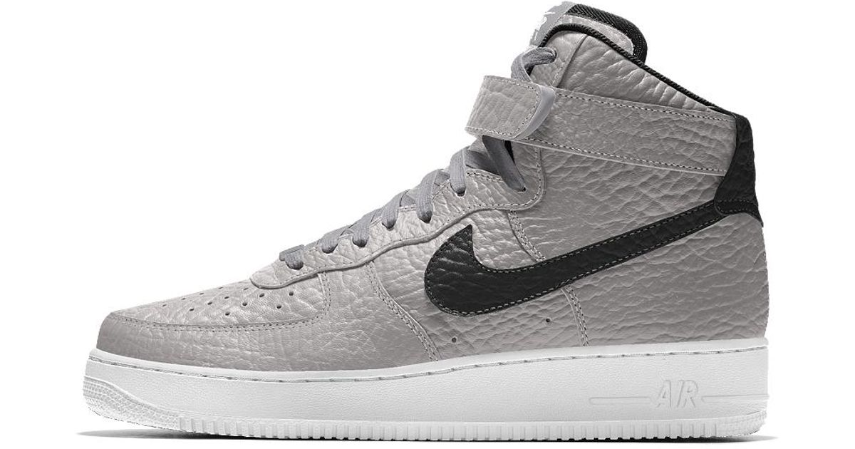 outlet store f53a5 85a31 Nike Air Force 1 High Premium Id (brooklyn Nets) Men's Shoe for Men - Lyst