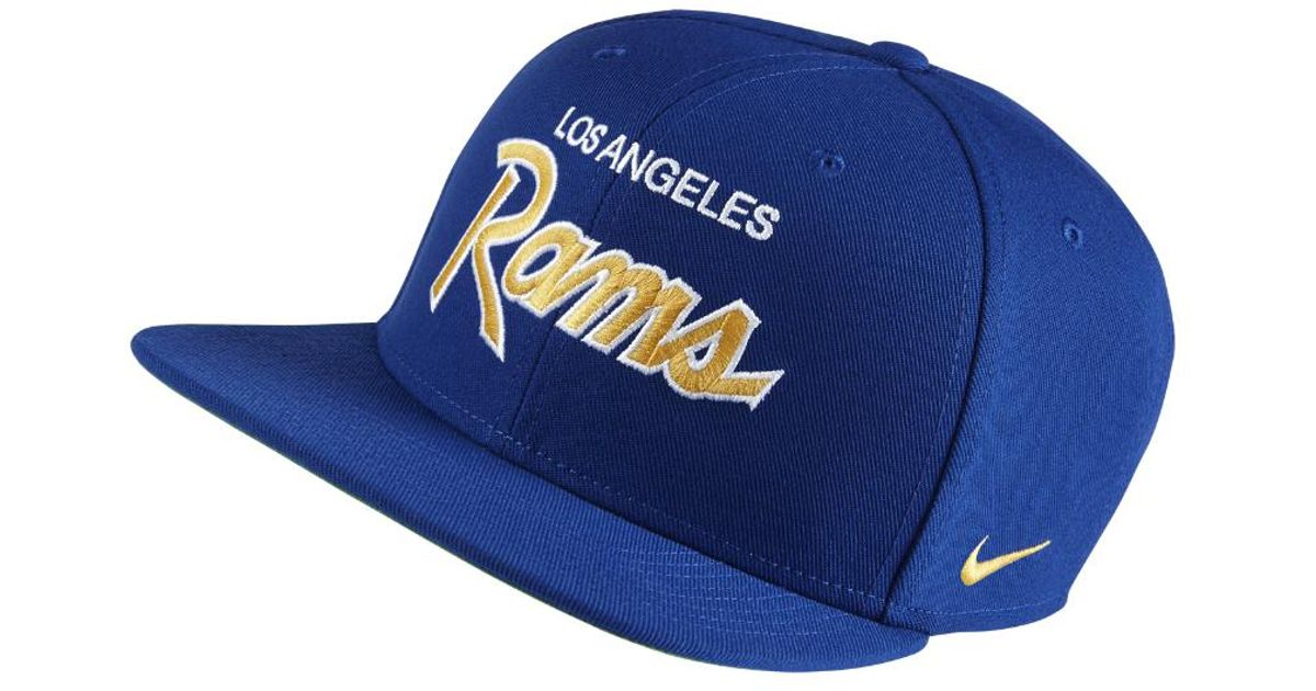 Lyst - Nike Ssc (nfl Rams) Adjustable Hat (rush) in Blue for Men 4c099babf6f