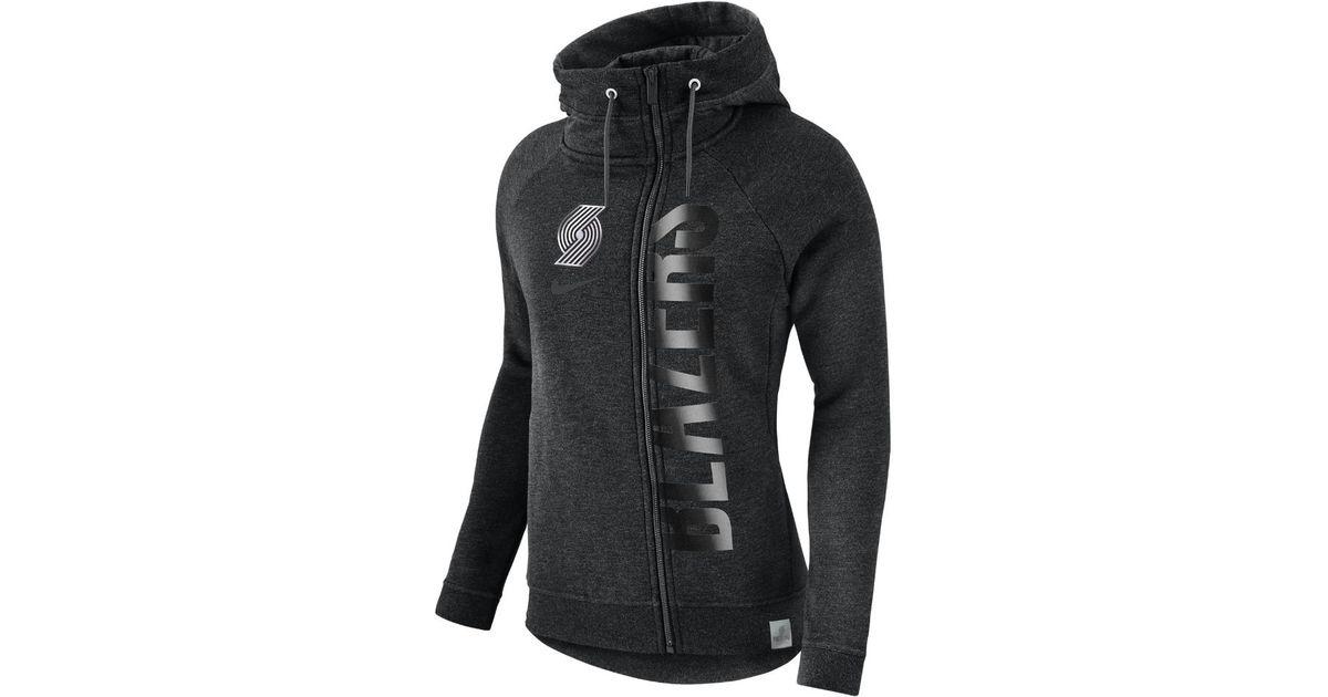 Lyst - Nike Portland Trail Blazers Modern Women s Nba Cape in Black 19be4299b29f