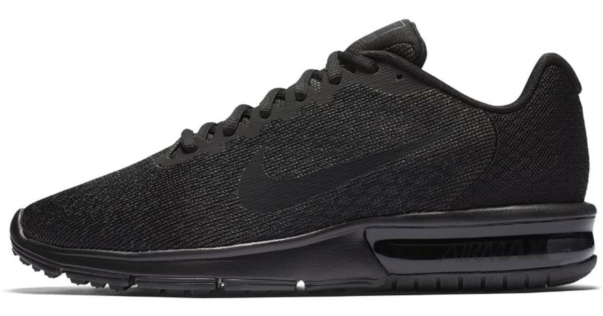 cf0ade6d8eef Lyst - Nike Air Max Sequent 2 Men s Running Shoe in Black for Men