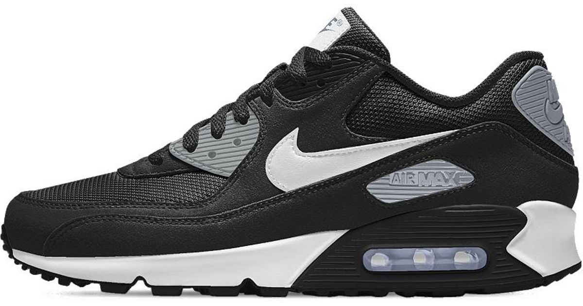 new style 250ba e01e3 Nike Air Max 90 Essential Id Men s Shoe in Black for Men - Lyst