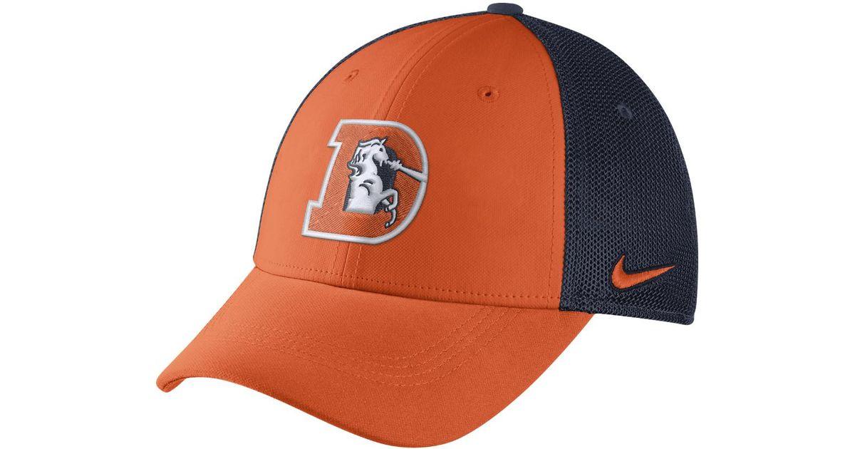 f38db85c8 Lyst - Nike Color Rush Swoosh Flex (nfl Broncos) Fitted Hat in Orange for  Men
