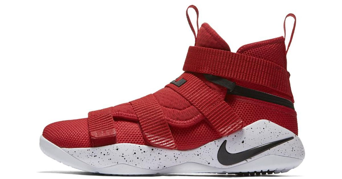 premium selection 40544 26b36 Lyst - Nike Lebron Soldier Xi Flyease Basketball Shoe in Red for Men - Save  16%