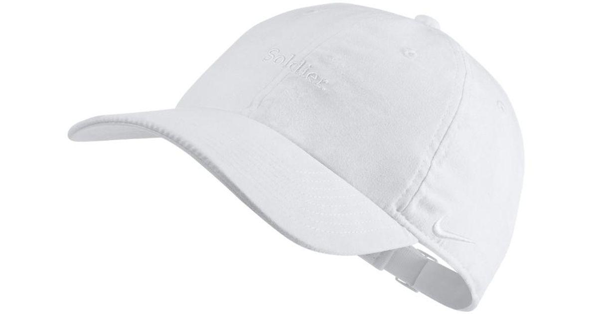 dbb12062 Nike Lebron Heritage 86 Adjustable Hat (white) in White for Men - Lyst