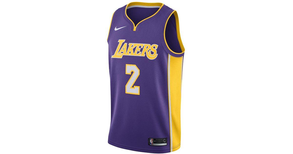 03447f5c3 Lyst - Nike Lonzo Ball Icon Edition Swingman Jersey (los Angeles Lakers) Men s  Nba Connected Jersey in Purple for Men