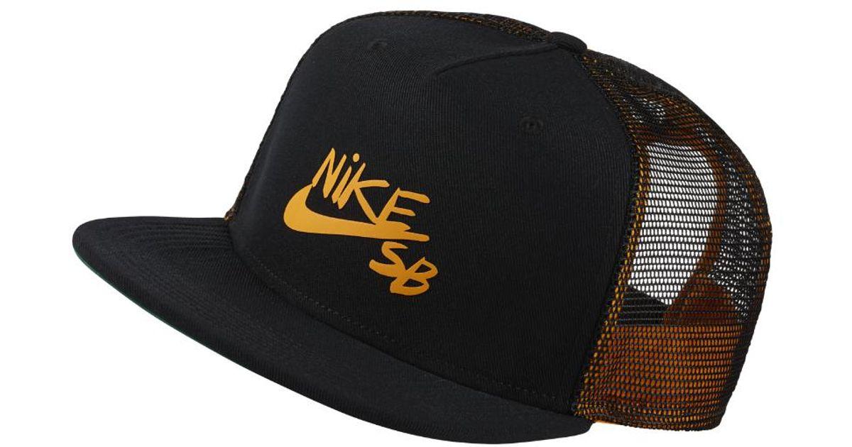 ... promo code for lyst nike sb trucker hat black in black for men c610c  d8481 f789ac178f5d