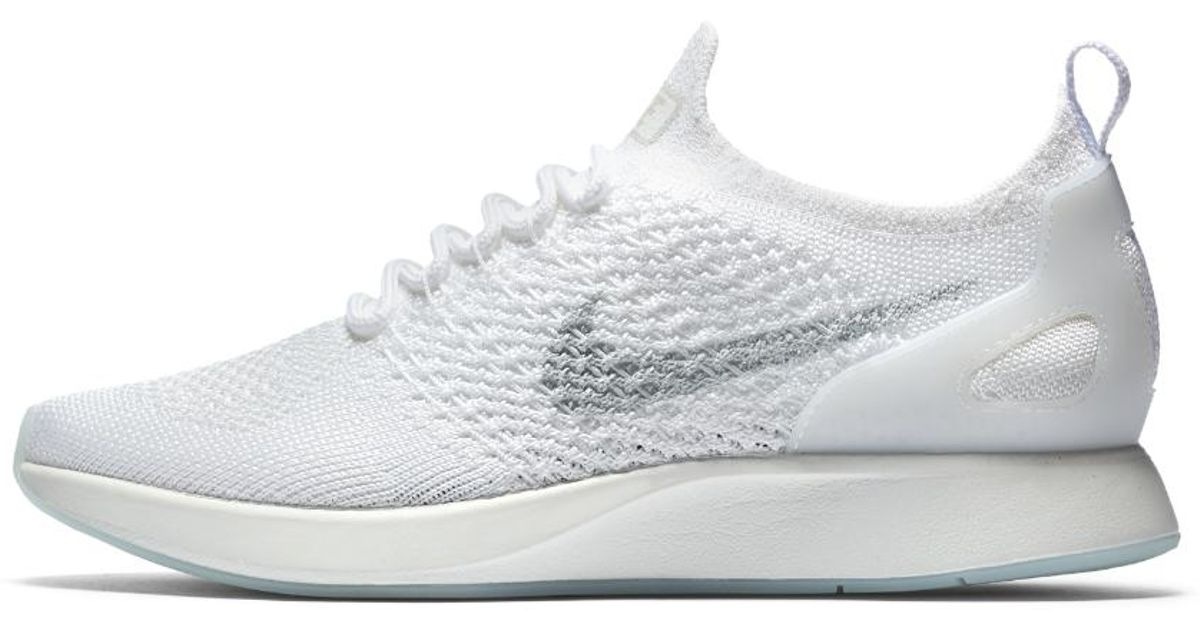 bcbd3e67a563a ... shop lyst nike air zoom mariah flyknit racer womens shoe in white 4bce9  59cce