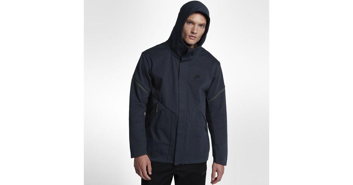Lyst - Nike Sportswear Tech Fleece Repel Windrunner Men s Jacket in Blue  for Men b2234d0ba9c4