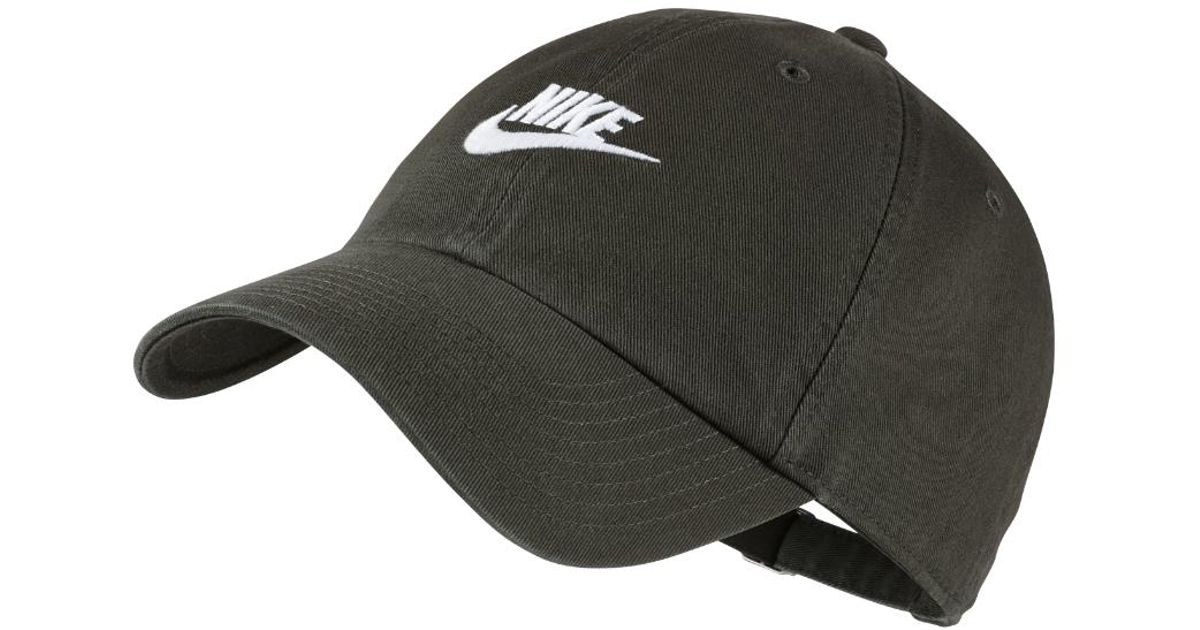 8ae74738cb9 Lyst - Nike Sportswear Heritage 86 Adjustable Hat (olive) - Clearance Sale  in Green for Men