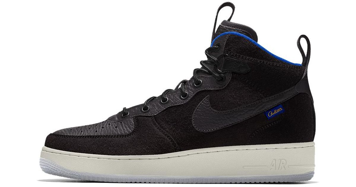 Lyst - Nike Air Force 1 Mid Premium Id Men s Shoe in Black for Men 0cac7f069