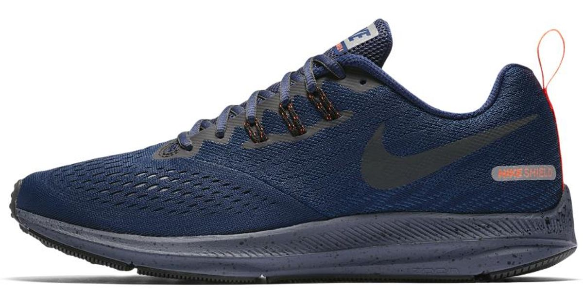 a76b70717a9 Lyst - Nike Air Zoom Winflo 4 Shield Men s Running Shoe in Blue for Men