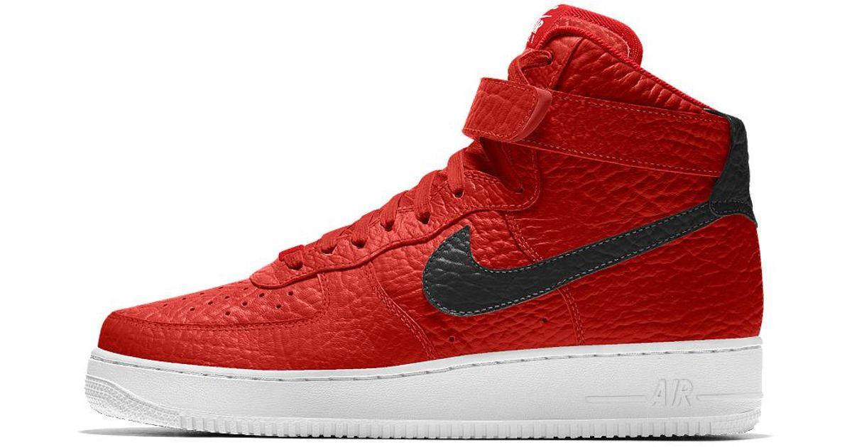 63353184298133 ... low price lyst nike air force 1 high premium id toronto raptors mens  shoe in red