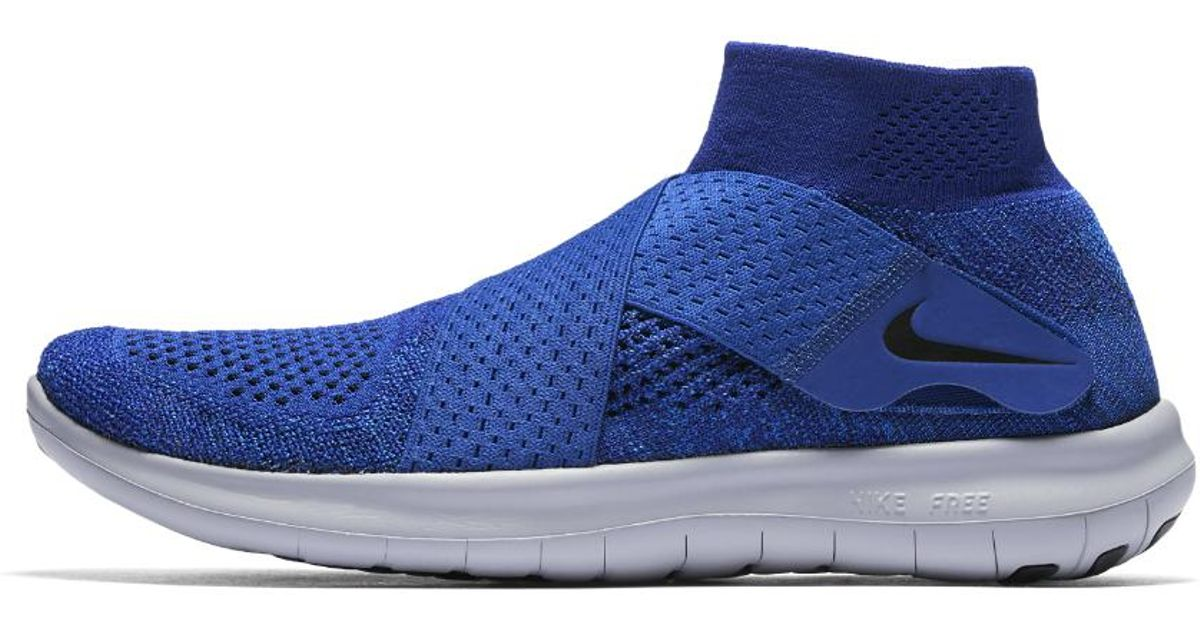 557c145834c98 ... discount lyst nike free rn motion flyknit 2017 mens running shoe in  blue for men 66c24