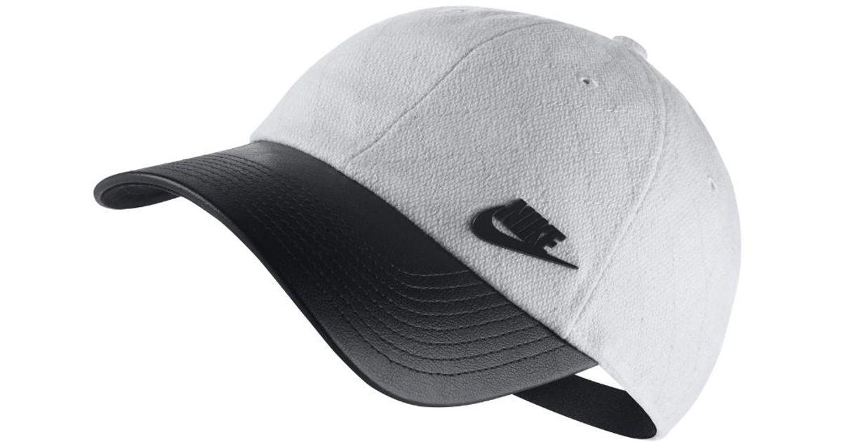 Lyst - Nike Sportswear Heritage 86 Adjustable Hat (white) in Black for Men 0b9e72f2502