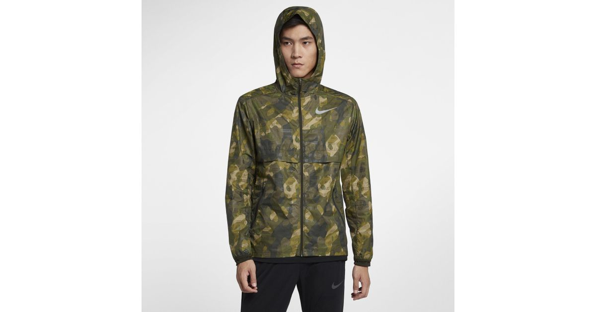 4d5f2cd63e Nike Shield Ghost Flash Running Jacket - in Green for Men - Save 31% - Lyst