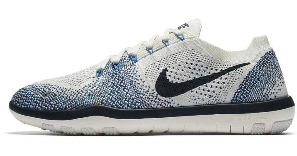 18d145427d077 Lyst - Nike Free Focus Flyknit 2 Indigo Women s Training Shoe in Blue