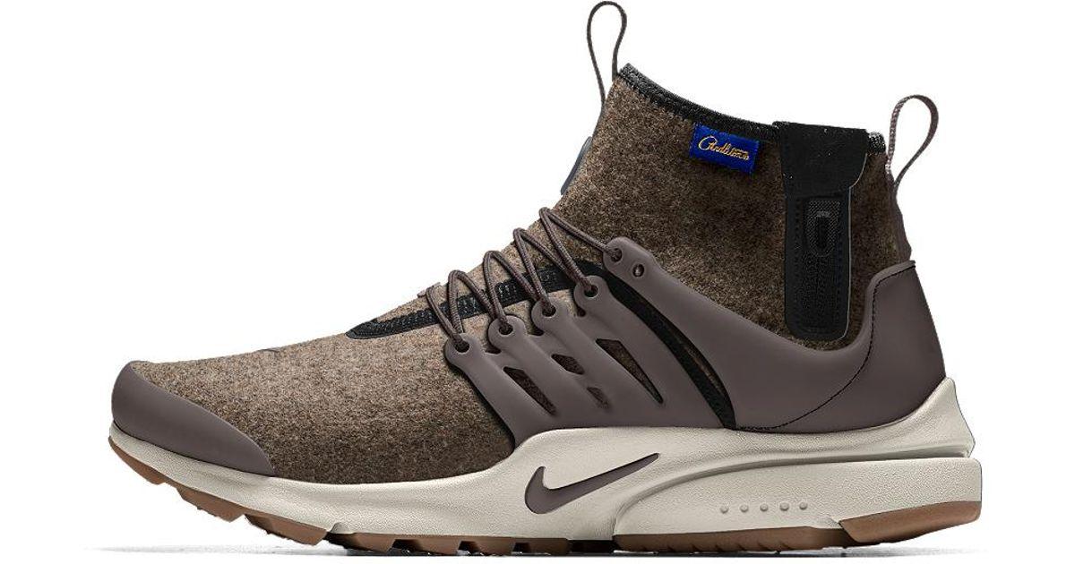 2f2e1d70dfe Lyst - Nike Air Presto Mid Utility Premium Id Men s Shoe in Black for Men