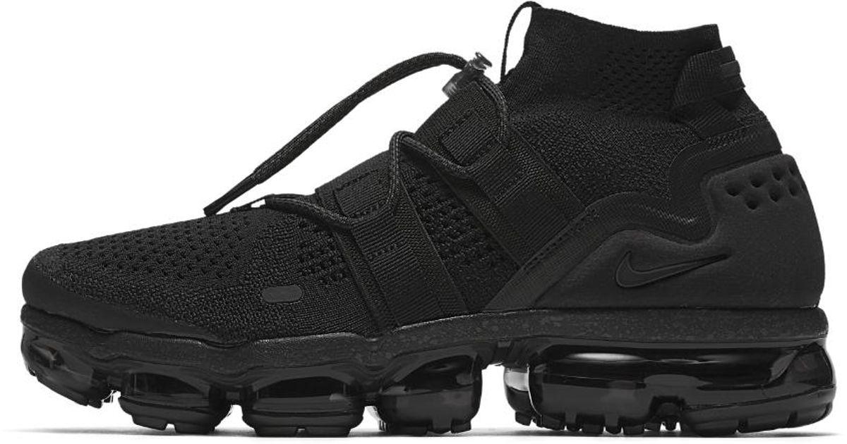 3d02aa42bd3d71 Lyst - Nike Air Vapormax Flyknit Utility Running Shoe in Black for Men