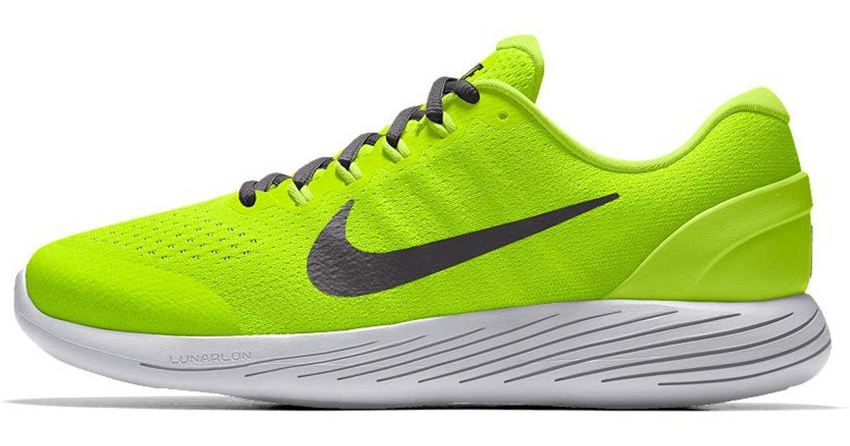 4c1e4176ebf5 Lyst - Nike Lunarglide 9 Id Men s Running Shoe in Yellow for Men