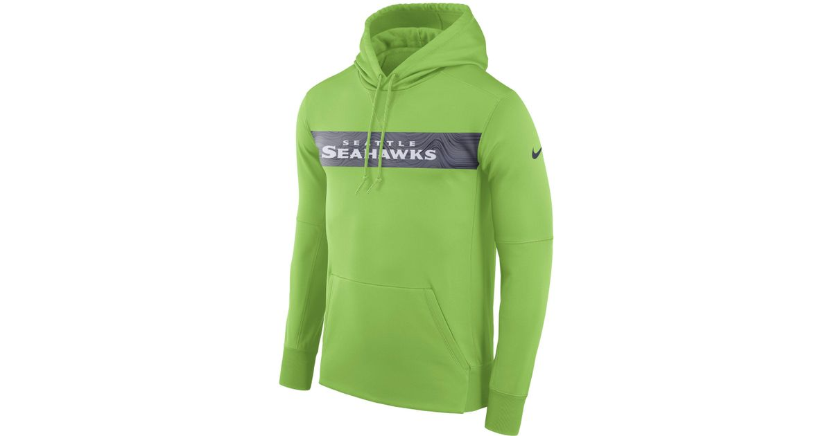 innovative design a3b84 ade2c Nike - Green Dri-fit Therma (nfl Seahawks) Pullover Hoodie for Men - Lyst