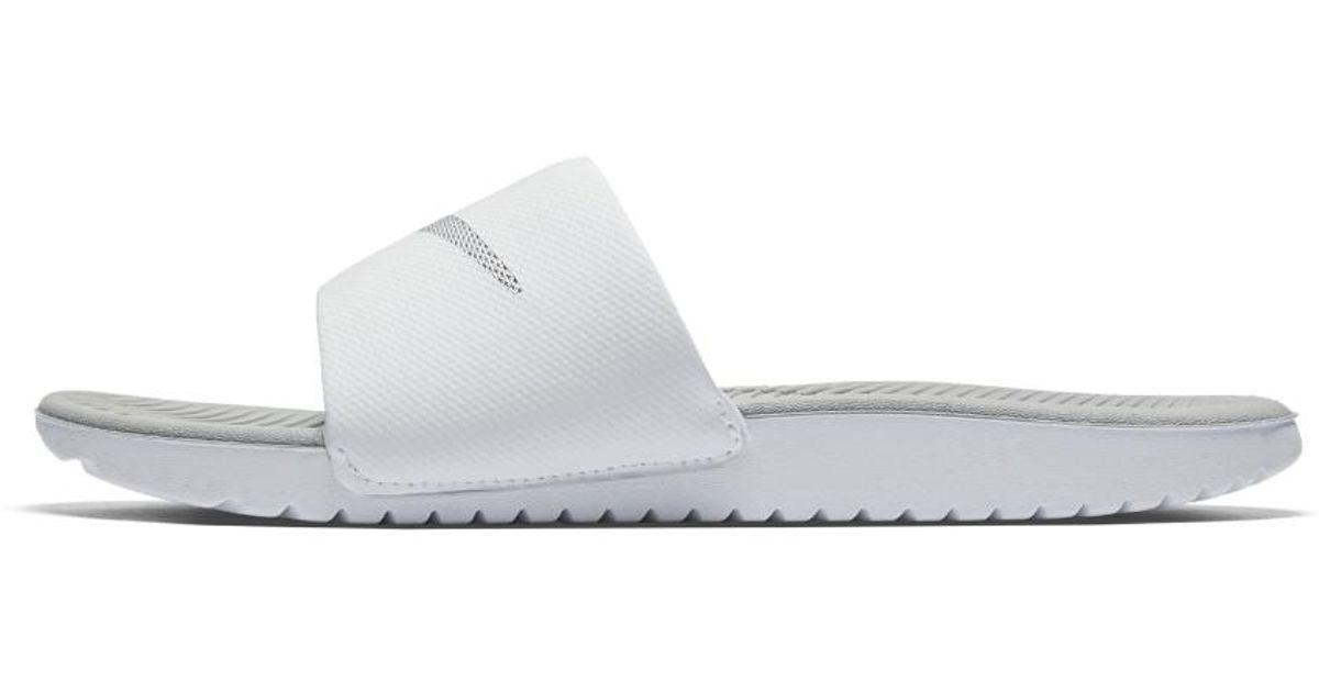quality design 71e72 1eaef Lyst - Nike Kawa Women s Slide Sandal in White