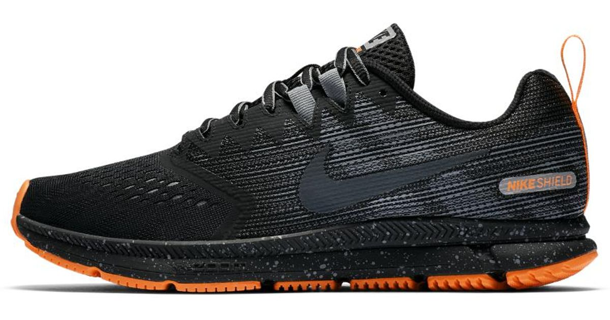 25874a5c941 Lyst - Nike Air Zoom Span 2 Shield Men s Running Shoe in Black for Men