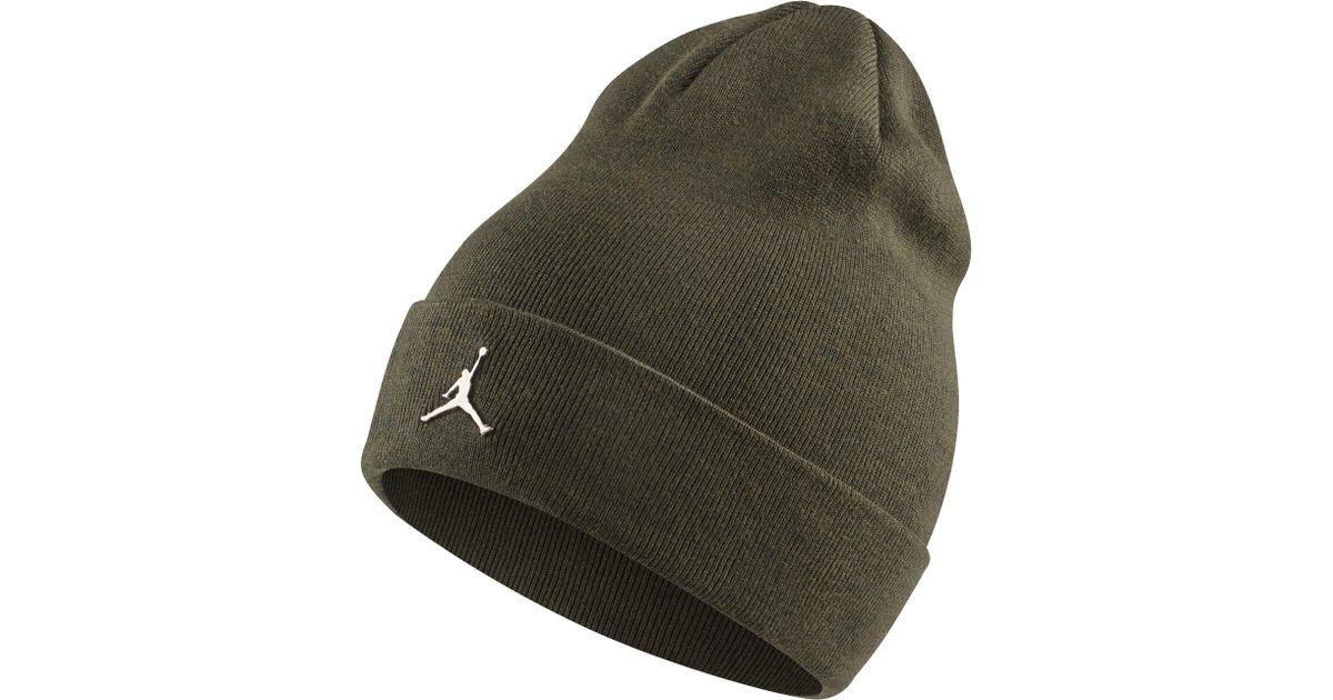 timeless design 19e9b 14029 Nike Jordan Cuffed Beanie in Green - Lyst