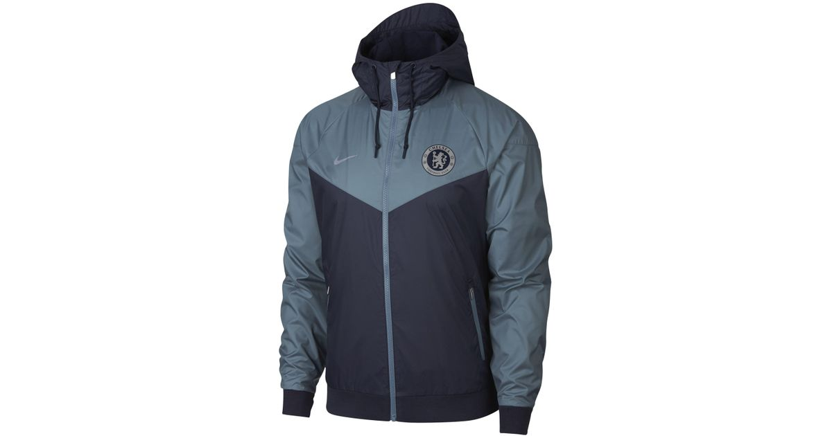 a30b6f902 Nike Chelsea Fc Windrunner Jacket in Blue for Men - Save 15% - Lyst