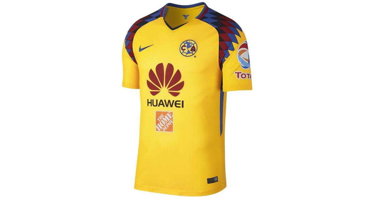 7d5a30d57 Lyst - Nike 2017 18 Club America Stadium Third Men s Soccer Jersey in  Yellow for Men