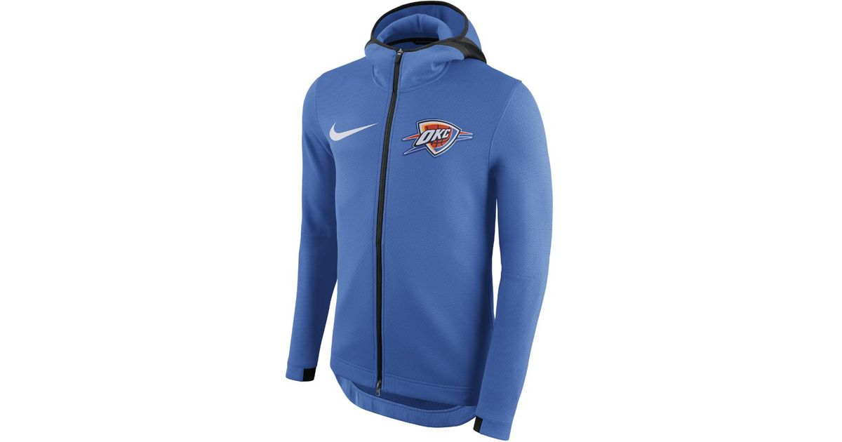 Lyst - Nike Oklahoma City Thunder Therma Flex Showtime Men s Nba Hoodie in  Blue for Men ccc2e33bc