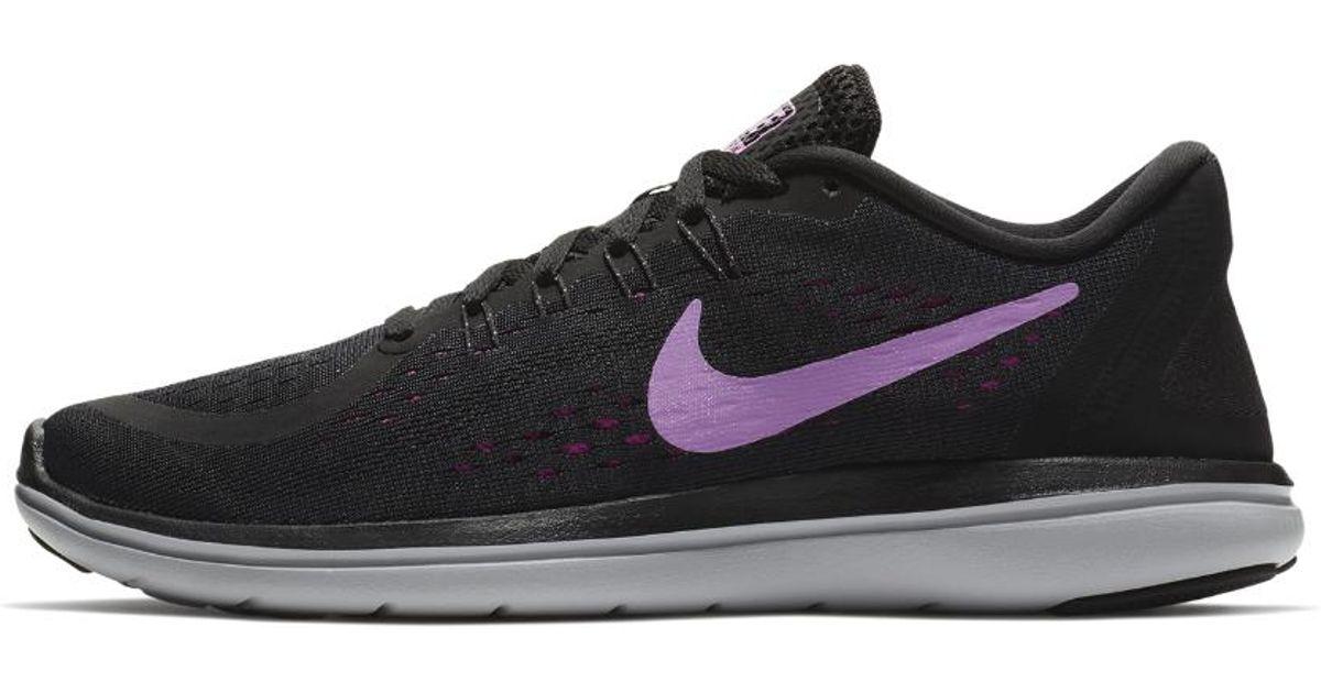 d7f76a9ecab Lyst - Nike Flex 2017 Rn Women s Running Shoe in Black