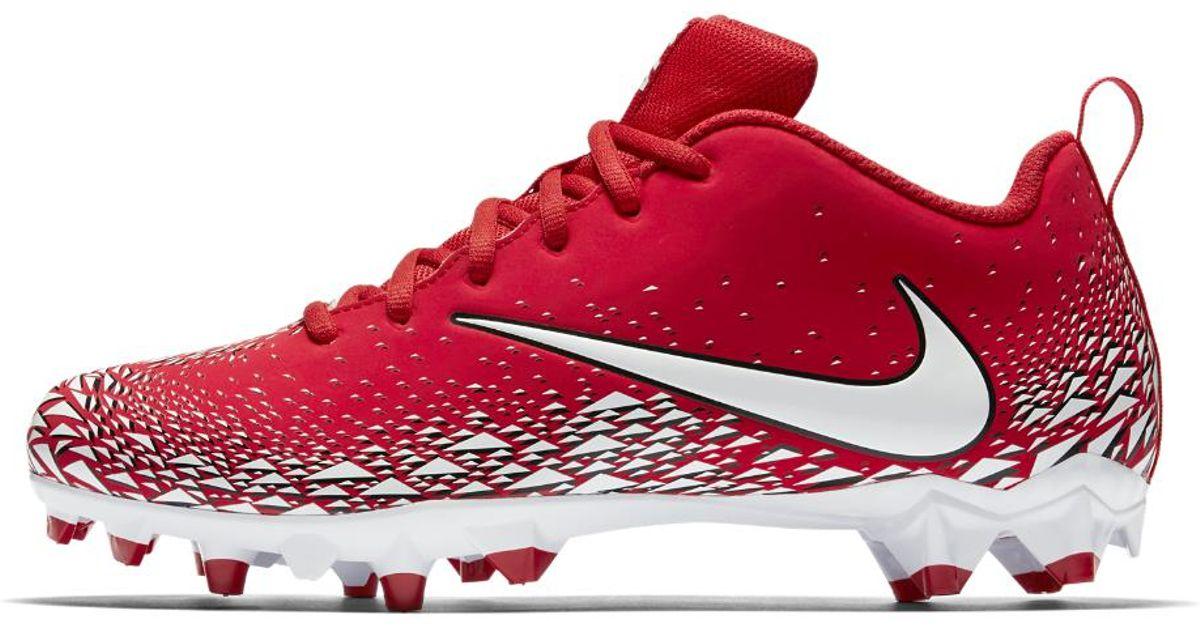 6c244f0ddab2bf Lyst - Nike Vapor Varsity Low Td Men s Football Cleat in Red for Men