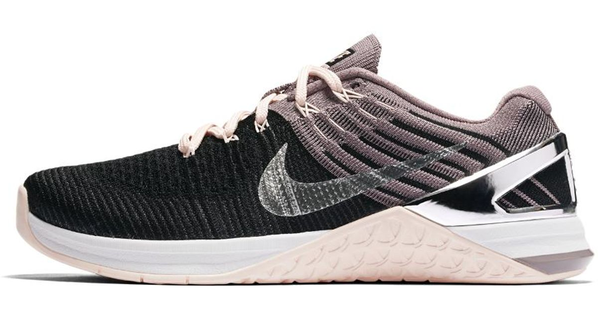 Lyst - Nike Metcon Dsx Flyknit Chrome Blush Women s Training Shoe in Black bc4f222ea